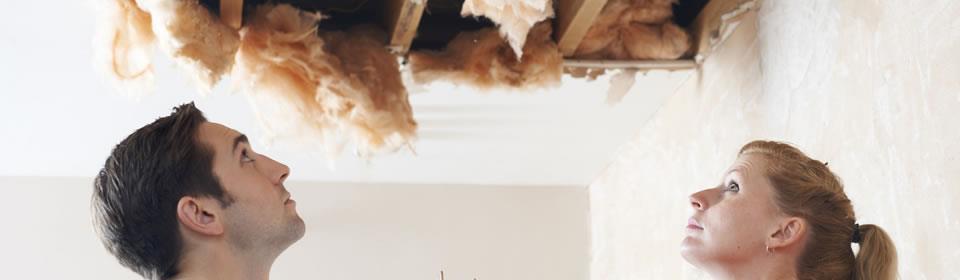 lekkage in plafond